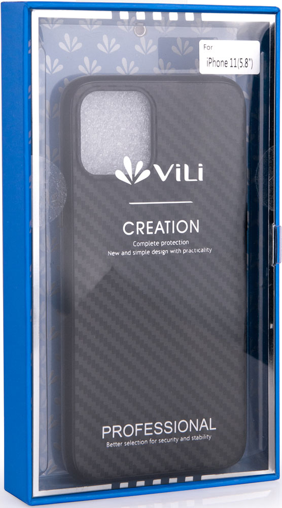 Клип-кейс Vili, iPhone 11 Pro пластик карбон Black, клип-кейс, Пластик, 0313-8134  - купить со скидкой
