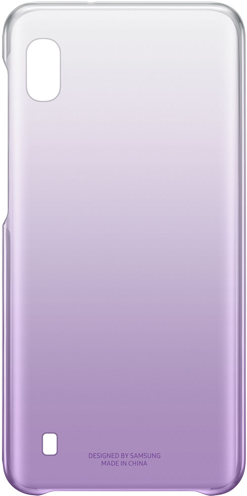 Фото - Клип-кейс Samsung A10 EF-AA105C Gradation Cover Purple чехол клип кейс samsung для samsung galaxy a20 gradation cover черный ef aa205cbegru