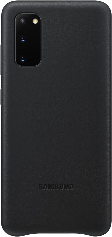 Клип-кейс Samsung S20 кожаный Black (EF-VG980LBEGRU) фото