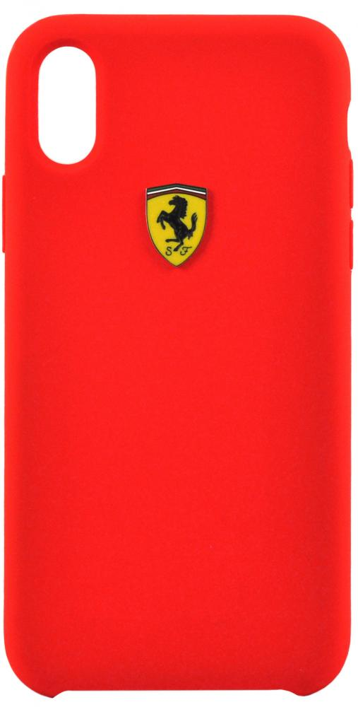 Клип-кейс Ferrari для iPhone XS силикон Red ferrari unisex cotton crewneck tee red s