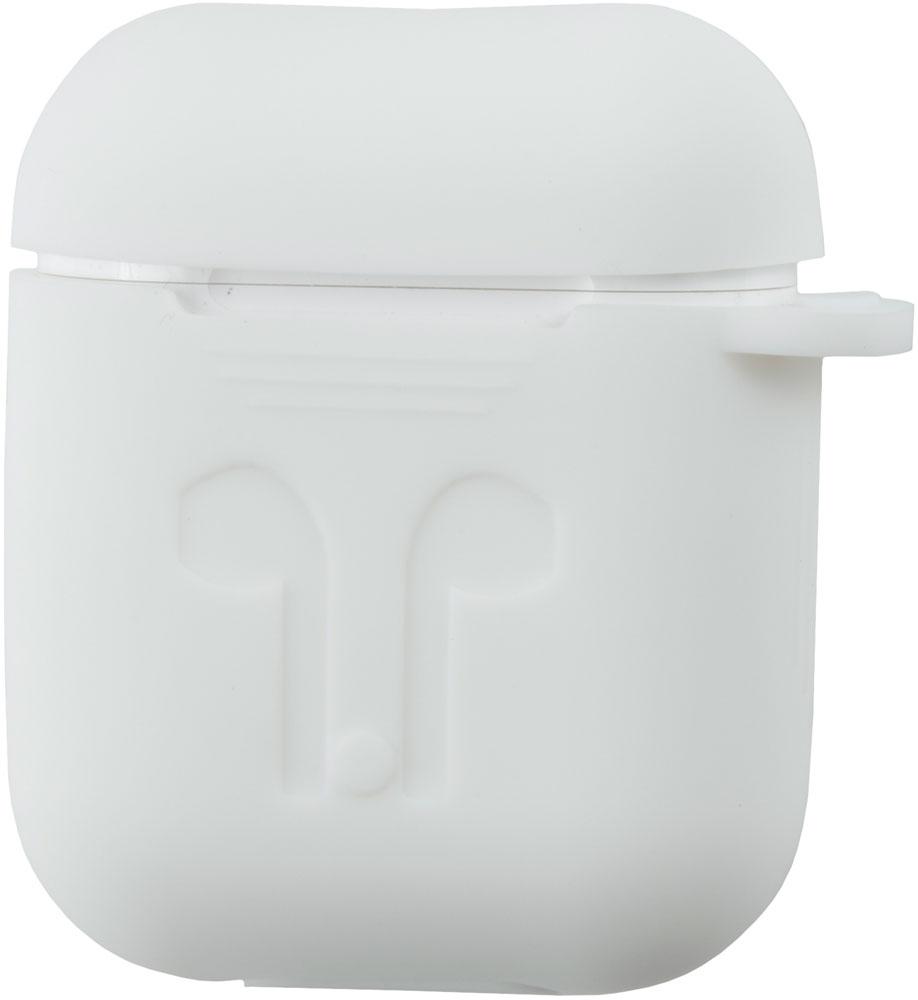 чехол для сотового телефона semolina чехол для наушников airpods 4605180024189 черный Чехол RedLine для зарядного кейса Airpods White