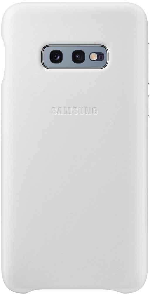 Клип-кейс Samsung Galaxy S10e EF-VG970L кожа White клип кейс uniq samsung galaxy s10e black