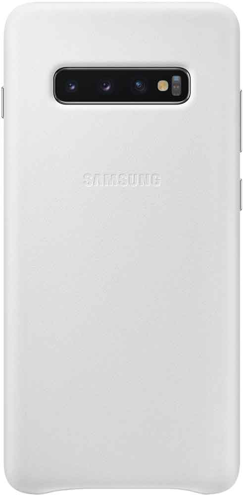 Клип-кейс Samsung Galaxy S10 Plus EF-VG975L кожа White