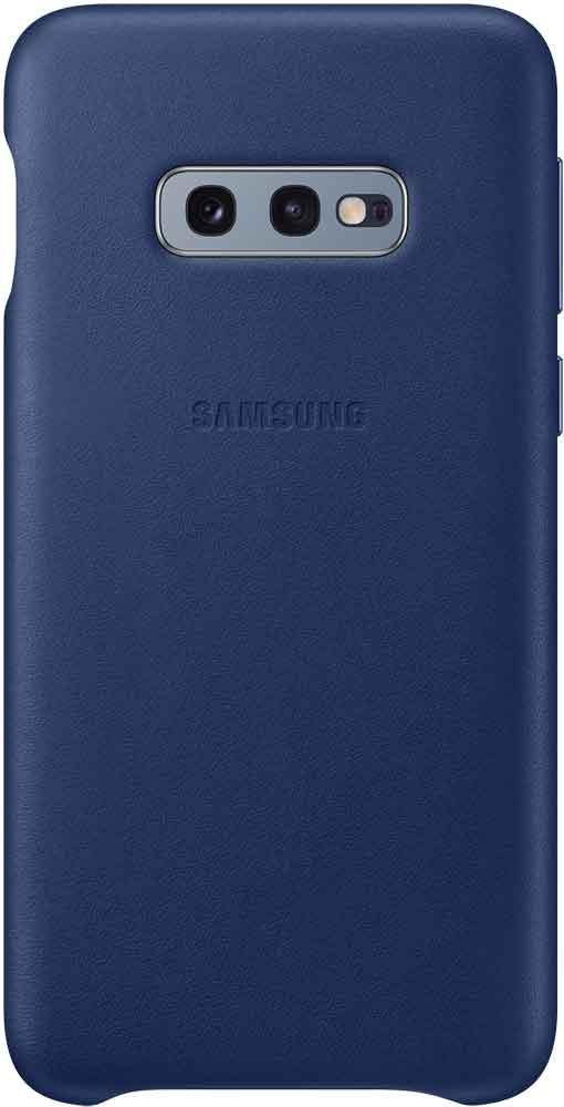 Клип-кейс Samsung Galaxy S10e EF-VG970L кожа Navy клип кейс uniq samsung galaxy s10e black