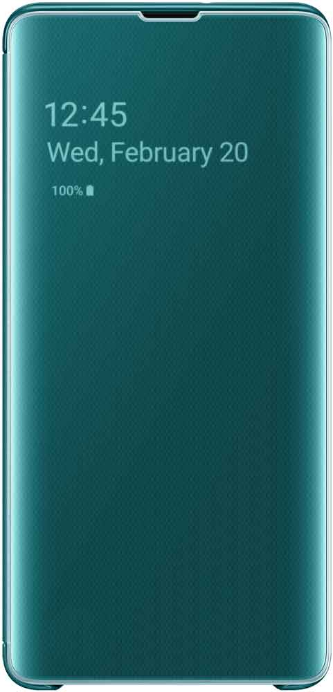 Чехол-книжка Samsung Galaxy S10 Plus EF-ZG975C Green чехол накладка samsung ef rg973c для samsung galaxy s10