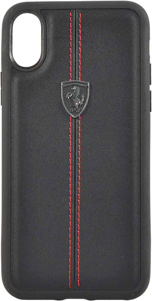 Клип-кейс Ferrari iPhone ХS кожа Black клип кейс ferrari iphone хs кожа black