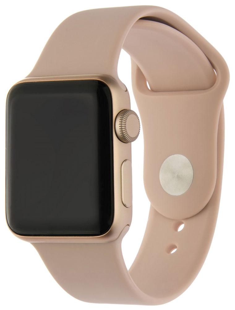 Ремешок для умных часов InterStep Sport Apple Watch 38/40мм силиконовый Pink фото