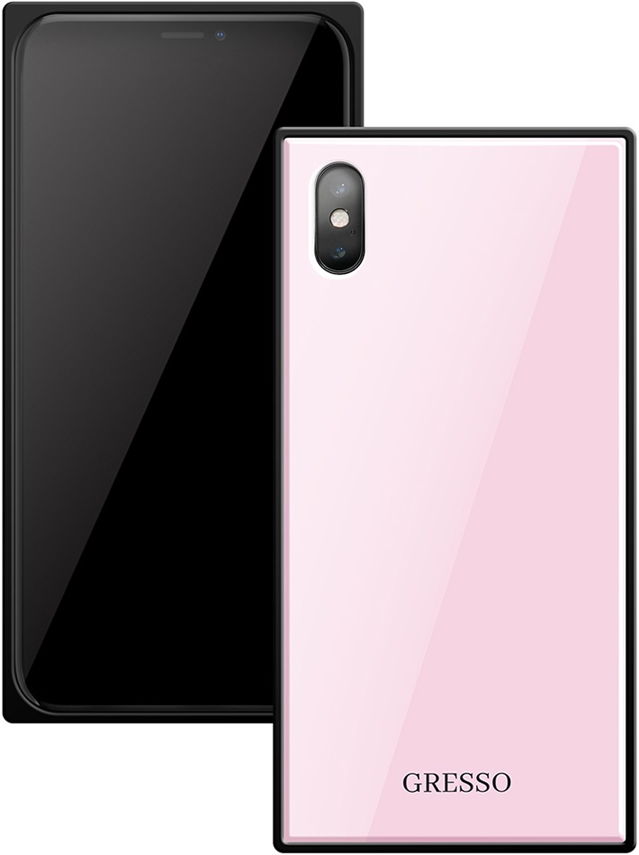 Клип-кейс Gresso Glass Apple iPhone X прямоугольный Pink клип кейс gresso glass edge для apple iphone xr гуайра