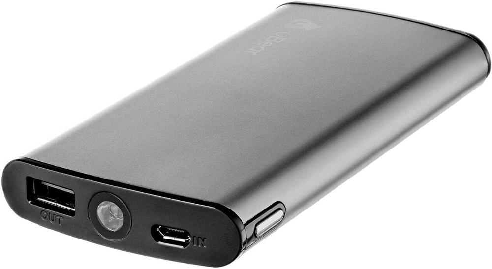 Внешний аккумулятор uBear 9000mAh металл Dark Gray аккумулятор powerocks magic cube mc pr 4a 9000mah purple