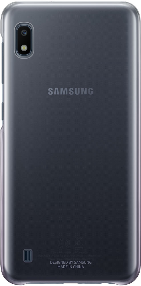 Фото - Клип-кейс Samsung Galaxy A10 EF-AA105C Gradation Cover Black чехол клип кейс samsung для samsung galaxy a20 gradation cover черный ef aa205cbegru