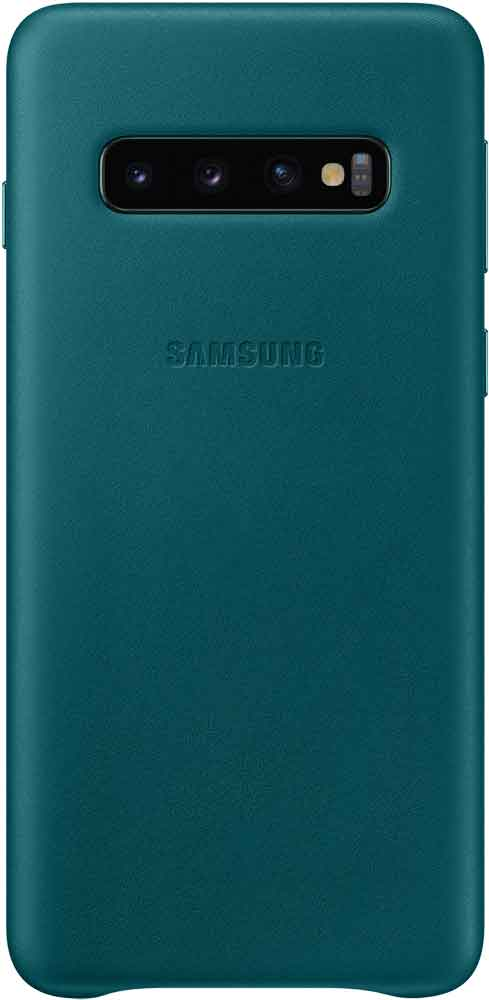 Клип-кейс Samsung Galaxy S10 EF-VG973L кожа Green клип кейс samsung galaxy s10 led ef kg973c black
