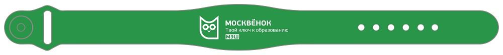 Браслет RFID Москвенок WCH PR4 RU силиконовый Green фото