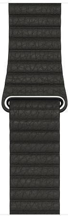 Ремешок для умных часов Apple Watch 42mm (L) кожаный dark grey (MQV82ZM/A) аксессуар ремешок gurdini sport silicone для apple watch 42mm dark teal 906173