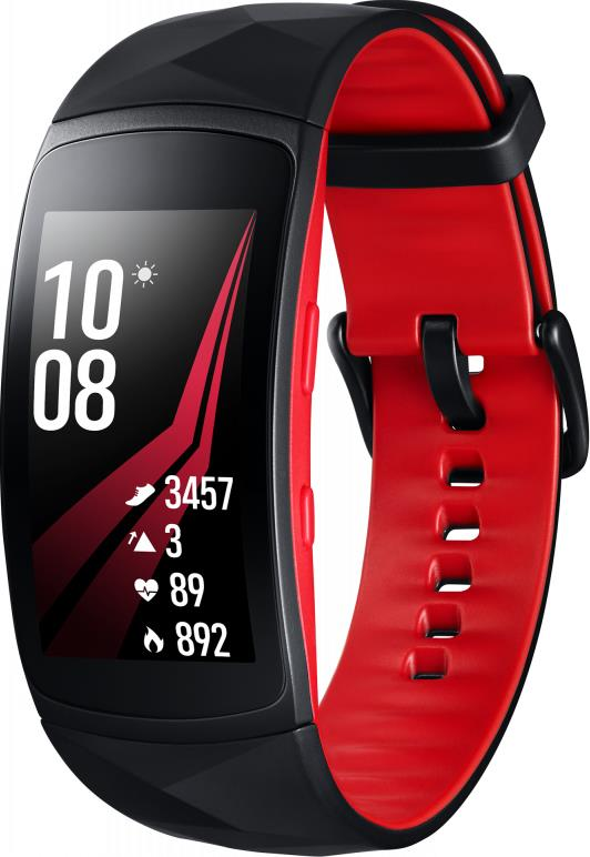 Часы Samsung Gear Fit 2 Pro (размер L) Black-Red SM-R365NZRASER