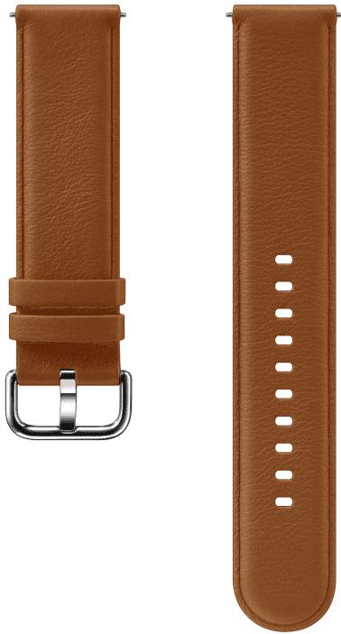 Ремешок для умных часов Samsung Galaxy Watch Active ET-SLR82M кожаный Brown