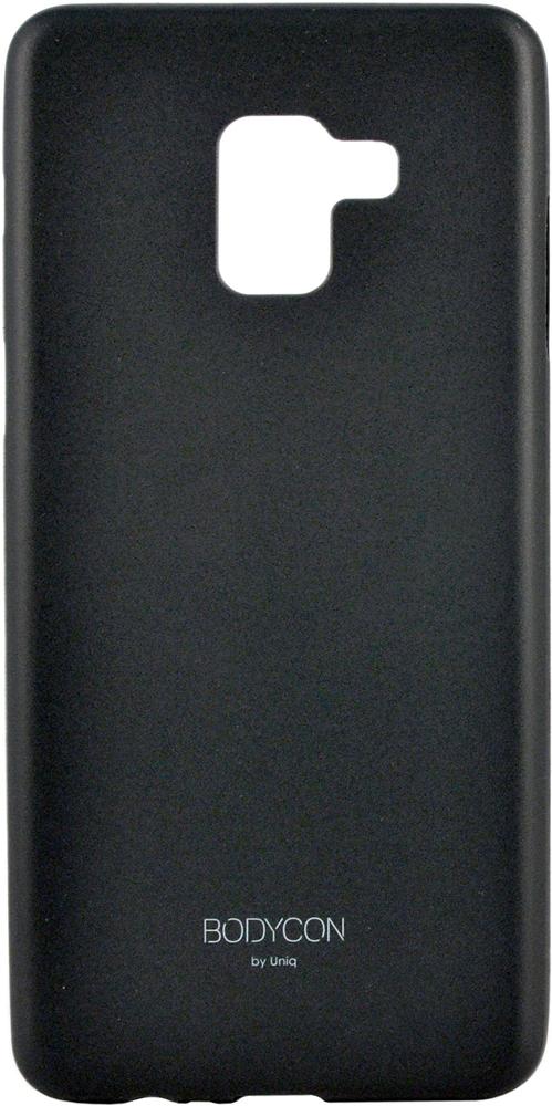 Клип-кейс Uniq Samsung Galaxy A8 тонкий пластик Black клип кейс uniq samsung galaxy s10 plus black