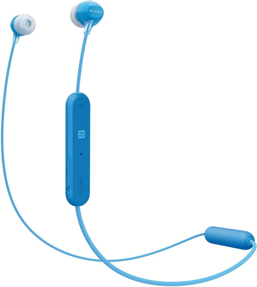 Беспроводные наушники с микрофоном Sony WI-C300L Blue фото