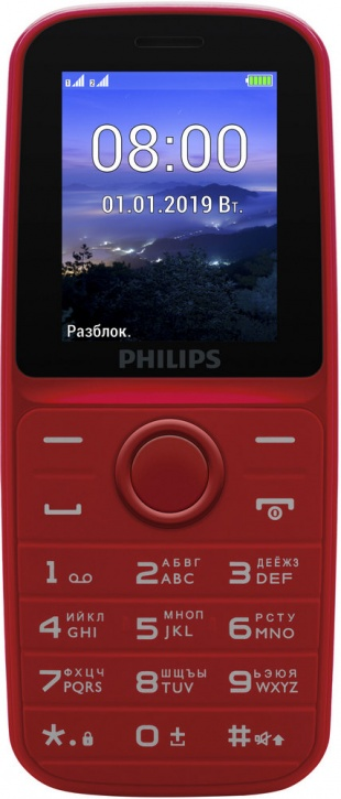 Мобильный телефон Philips E109 Dual sim Red philips s337 black red
