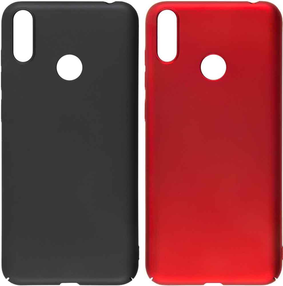 Набор чехлов Tribe Honor 8C пластик черный и красный