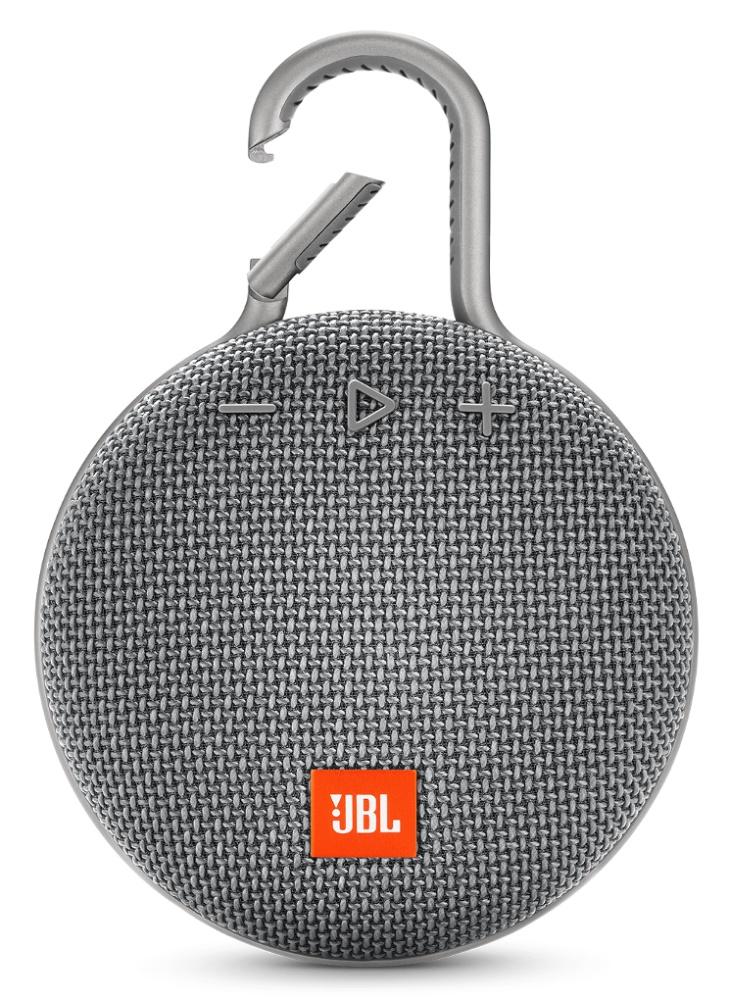 Портативная акустическая система JBL Clip 3 Grey акустическая система jbl charge 3 черный charge3blkeu