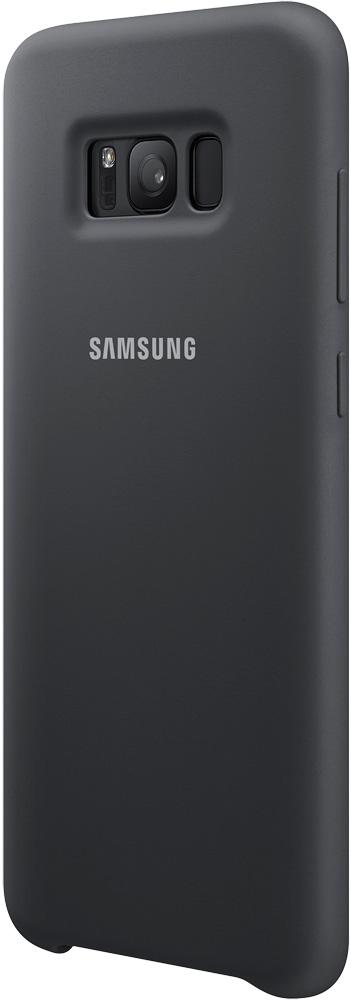 Клип-кейс Samsung Galaxy S8+ Silicone Cover Dark Gray (EF-PG955TSEGRU)