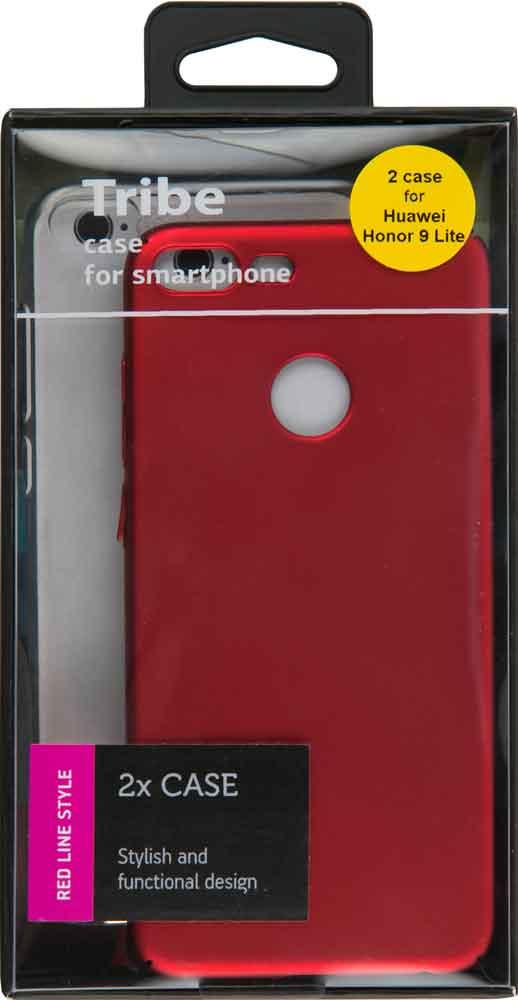 Набор чехлов Tribe Honor 9 Lite силикон+пластик прозрачный/красный набор чехлов tribe honor 8c силикон пластик прозрачный и красный
