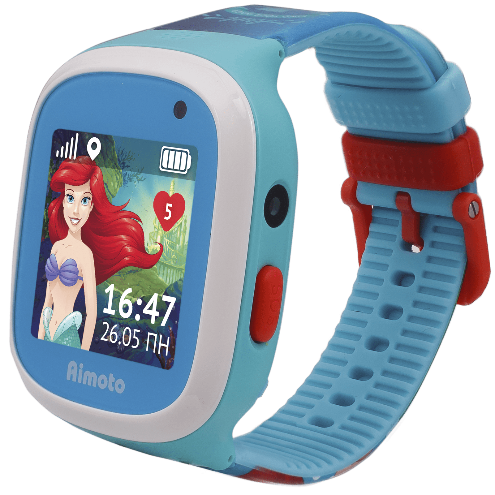 Детские часы Кнопка Жизни Aimoto Disney Русалочка lightblue все цены