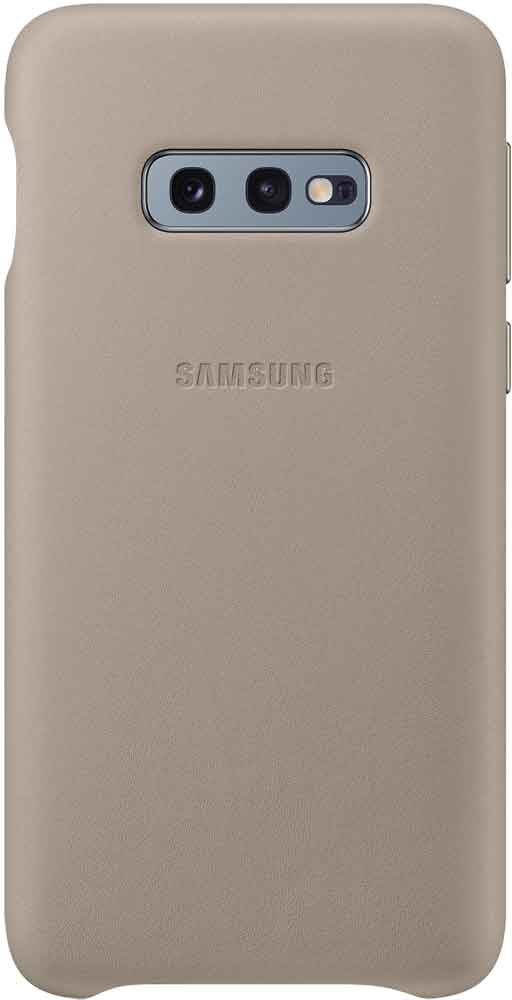 Клип-кейс Samsung Galaxy S10e EF-VG970L кожа Grey клип кейс uniq samsung galaxy s10e black