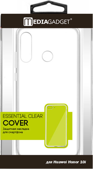 Клип-кейс MediaGadget Honor 10i силикон прозрачный