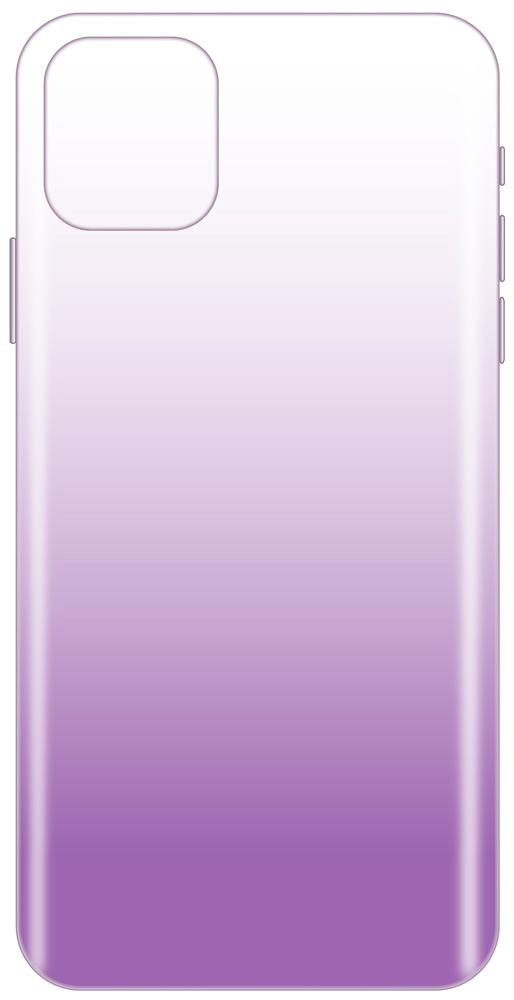 Клип-кейс LuxCase iPhone 11 Pro Max прозрачный градиент Purple фото