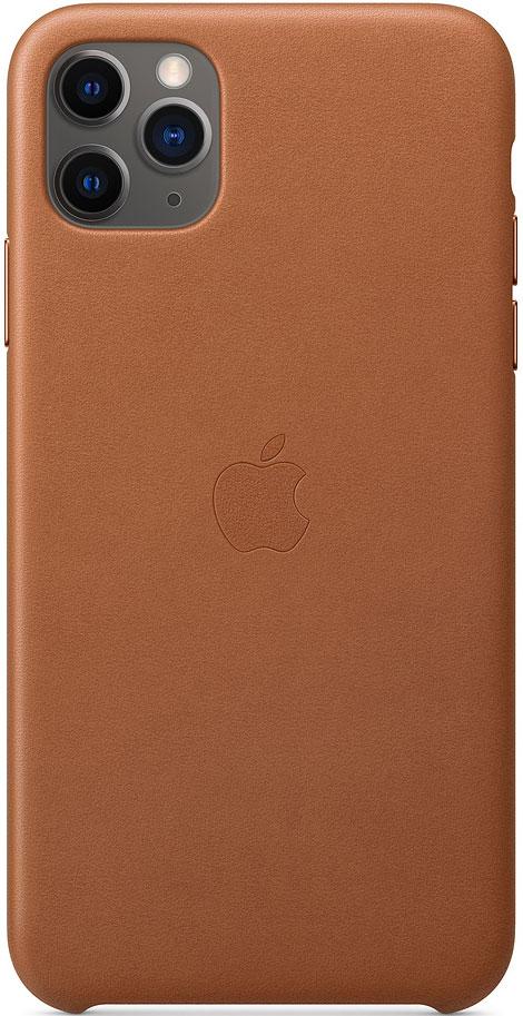 Клип-кейс Apple iPhone 11 Pro Max MX0D2ZM/A кожаный Золотисто-коричневый фото