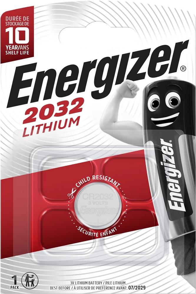 Батарея Energizer CR 2032 литиевая блистер 1шт фото