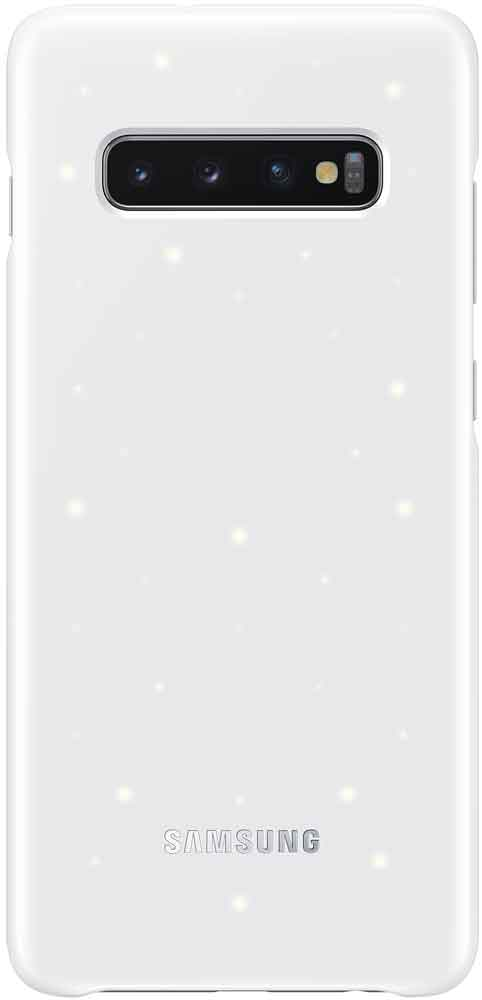 Клип-кейс Samsung Galaxy S10 Plus LED EF-KG975C White клип кейс uniq samsung galaxy s10 white