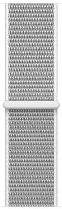 Ремешок для умных часов Apple Watch 38mm нейлоновый white (MQVY2ZM/A) аксессуар ремешок activ sport band для apple watch 38mm terracotta 79535