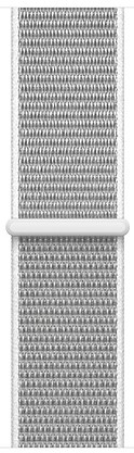 Ремешок для умных часов Apple Watch 38mm нейлоновый white (MQVY2ZM/A) аксессуар ремешок gurdini sport silicone для apple watch 38mm fog 906166