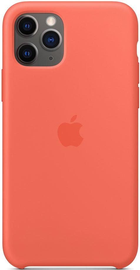 Клип-кейс Apple iPhone 11 Pro MWYQ2ZM/A силиконовый Оранжевый фото
