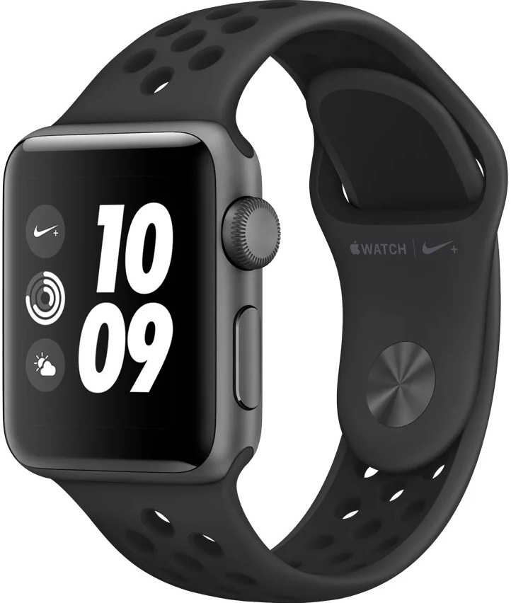 Часы Apple Watch Nike+ Series 3 38 мм корпус из алюминия серый космос + спортивный ремешок Nike (MTF12RU/A) ashei watch band for apple watch strap series 3 series 2 series 1 women leather bracelet wristband for iwatch belt 38mm 42mm