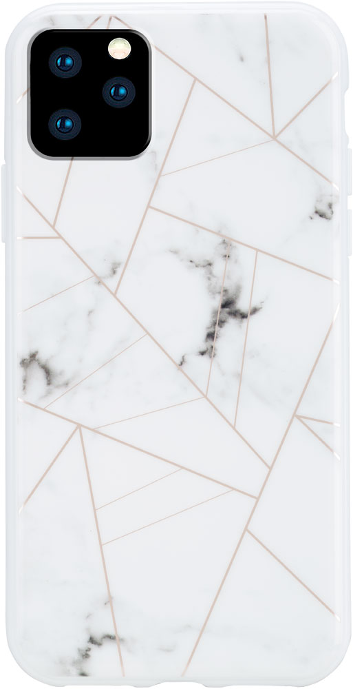 Клип-кейс Habitu, iPhone 11 Pro Max пластик мрамор White, клип-кейс, Пластик, 0313-8114  - купить со скидкой
