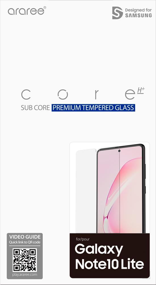 Стекло защитное Araree Samsung Galaxy Note 10 Lite прозрачное фото