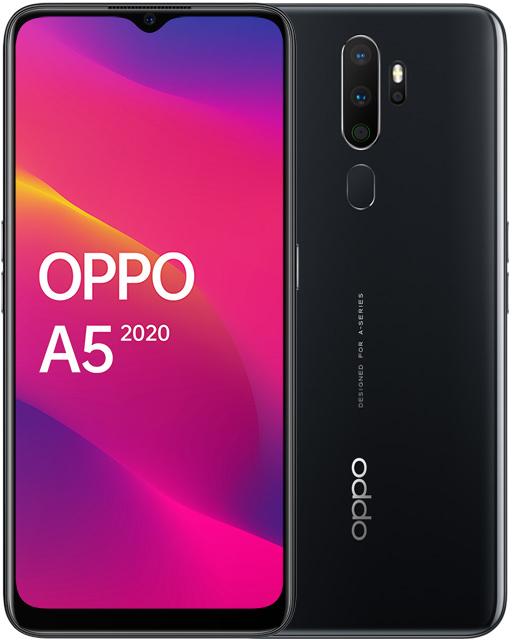 Смартфон OPPO A5 2020 3/64Gb Black фото