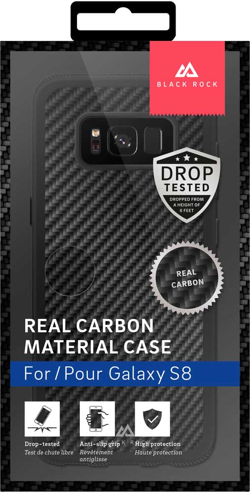 Клип-кейс Black Rock Samsung Galaxy S8 real carbon Black клип кейс black rock apple iphone 8 7 6 6s real carbon black