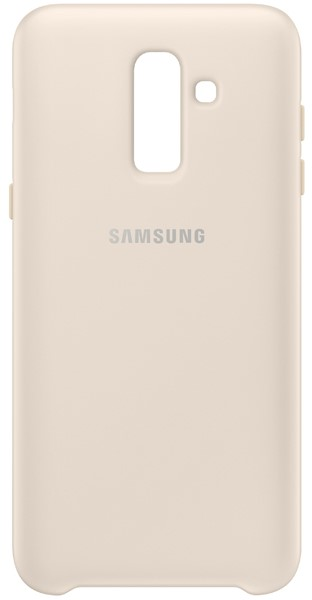 Клип-кейс Samsung для Galaxy J8 2018 Dual Layer cover EF-PJ810CFEGRU gold цена и фото