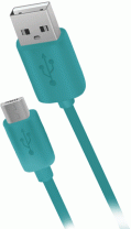 фото Дата-кабель Nobby Connect 015-001 USB-microUSB 3м Turquoise