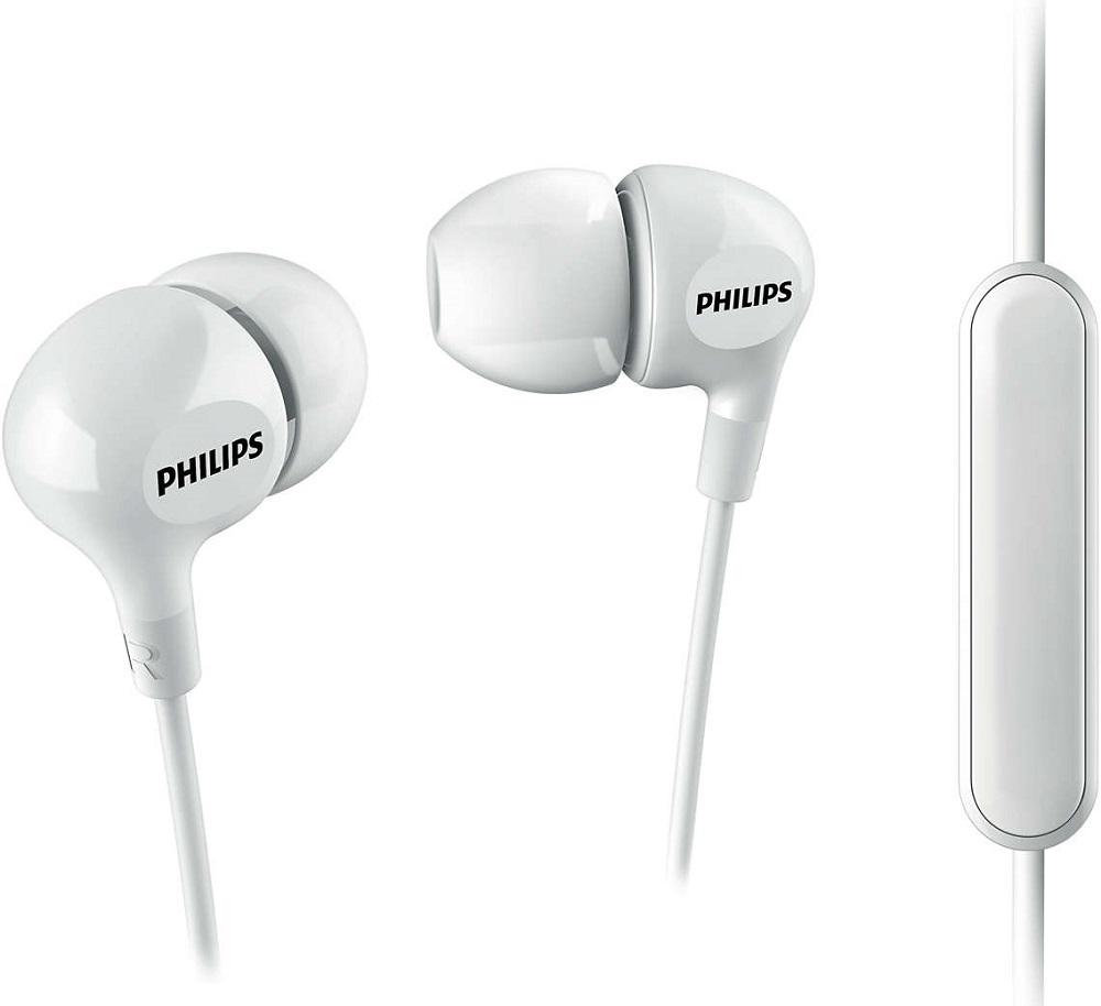 Наушники с микрофоном Philips SHE3555WT White фото