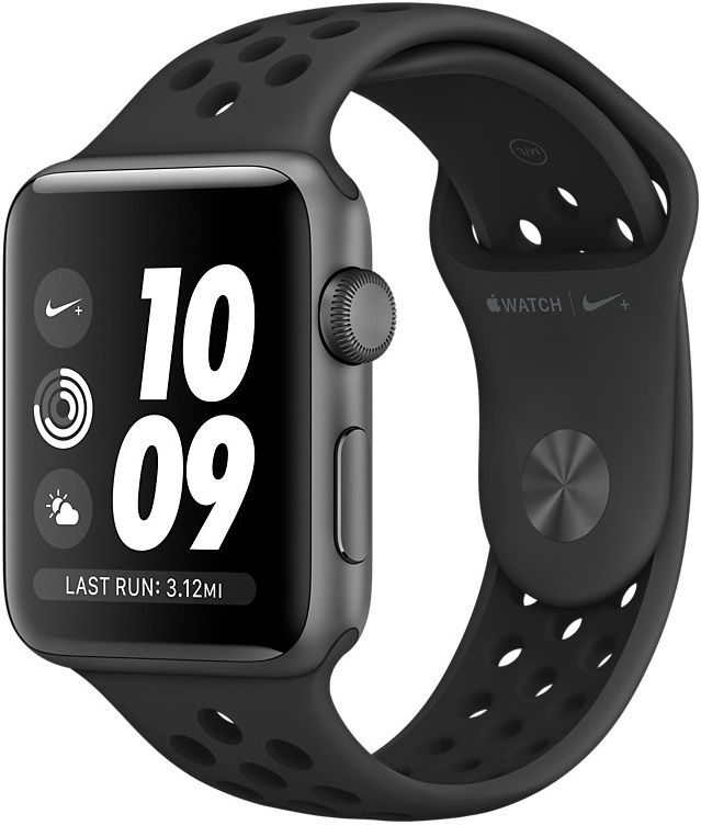 Часы Apple Watch Nike+ Series 3 42 мм серый космос + ремешок Nike (MTF42RU/A)