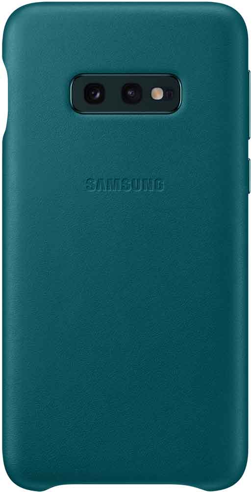 Клип-кейс Samsung Galaxy S10e EF-VG970L кожа Green клип кейс tfn samsung galaxy s10e прозрачный