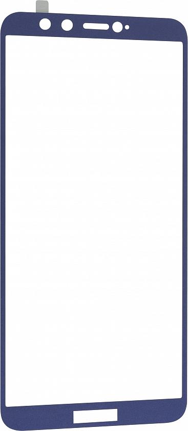 Стекло защитное RedLine Corning для Honor 9 Lite 0.2 мм синяя рамка цена и фото