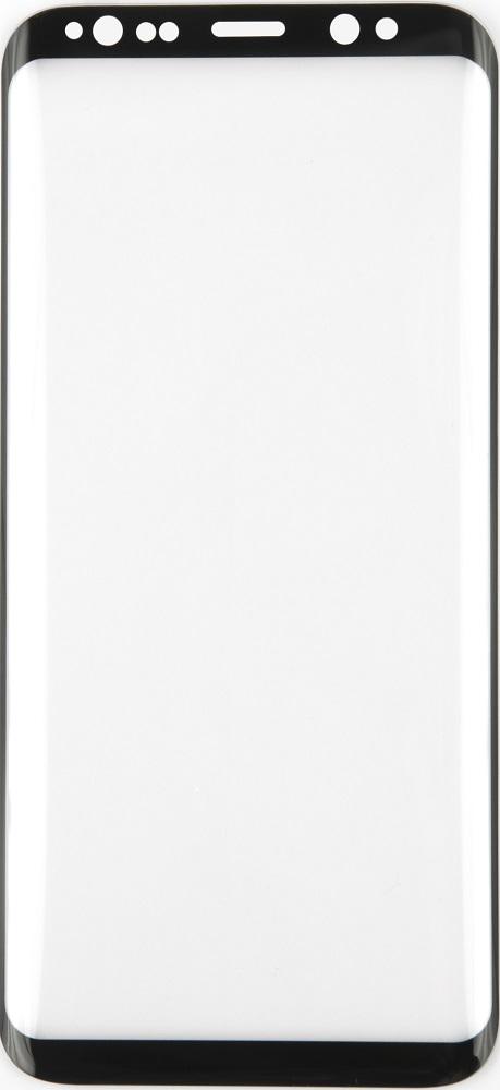 Стекло защитное RedLine Samsung S8+ Full Screen 3D черная рамка прозрачное фото