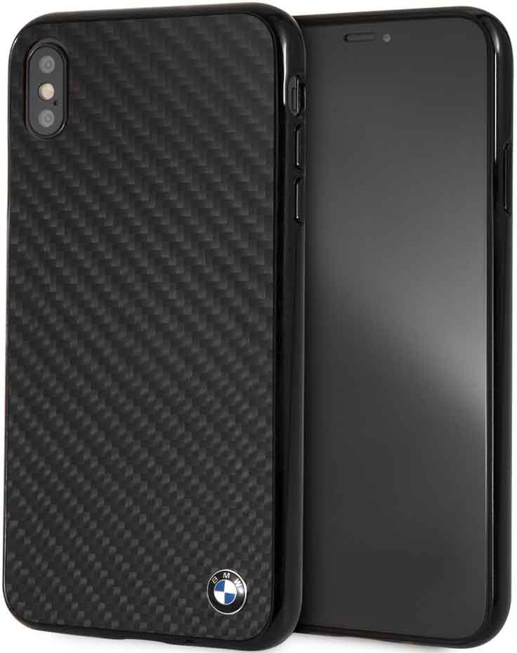 Клип-кейс BMW iPhone ХS Max карбон Black клип кейс bmw iphone xs max силикон black