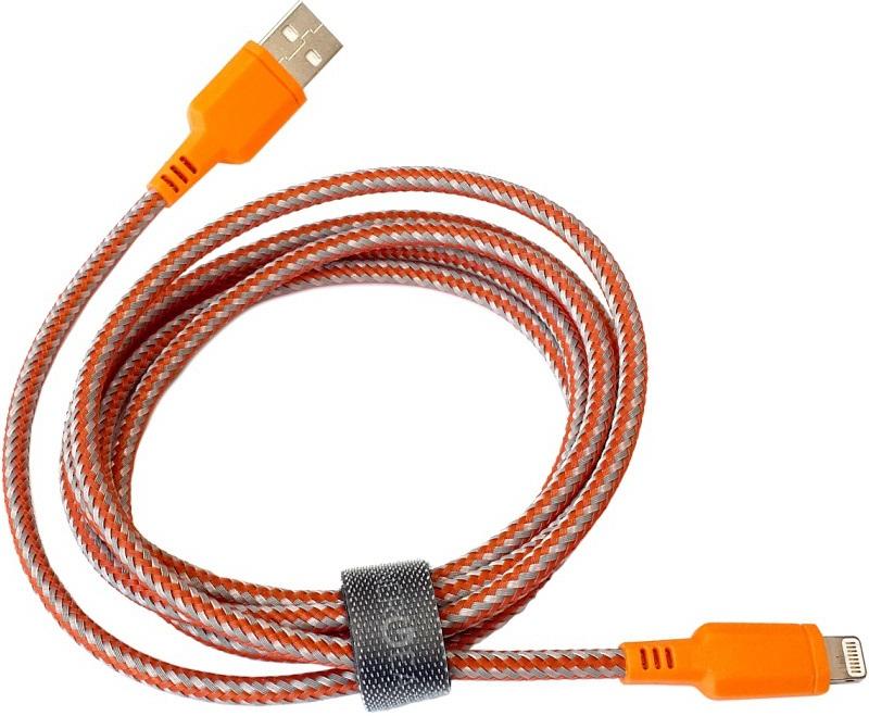 Дата-кабель Energea Nylotough Lightning-USB MFI 1,5м Orange кабель braided usb lightning mfi 17865 серый